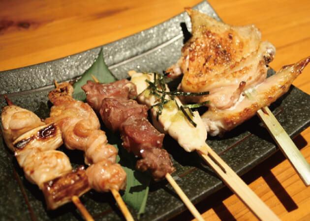 炭火焼鳥 まるいちの串料理