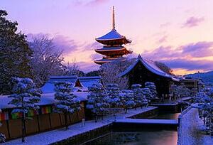 京都の冬景色