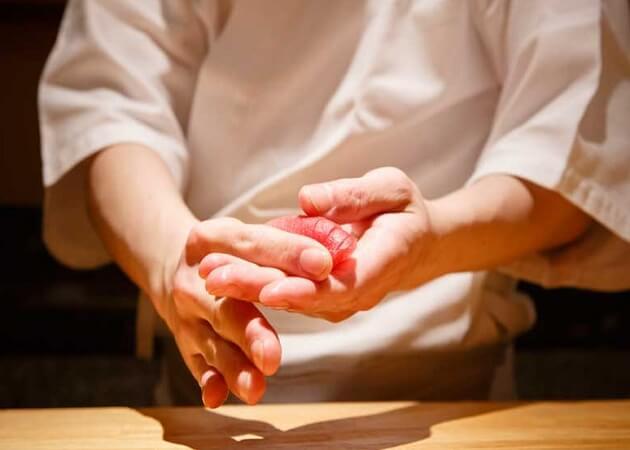 鮨 とかみ の握り寿司画像