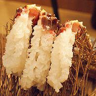活カニの花咲の海鮮料理