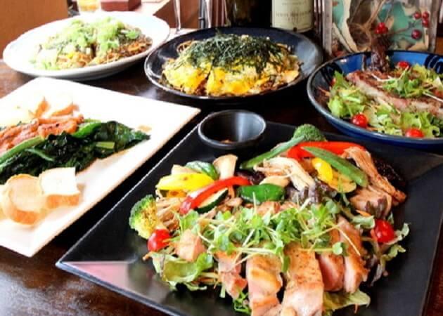 鉄板Dining ゆうあ のお好み焼きとアラカルト料理画像