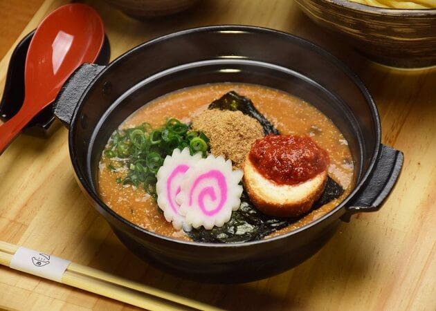 元祖めんたい煮こみつけ麺の料理