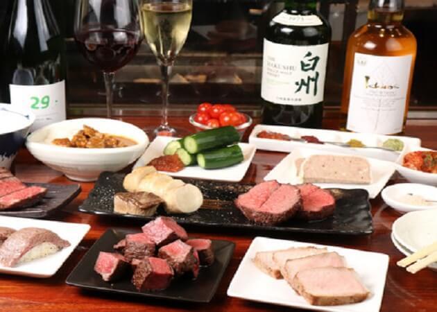 肉山 おおみや の和牛赤身肉コースの画像