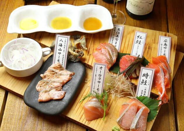 サーモン料理専門店 鮭バルの刺身