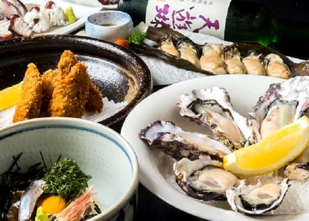 広島 わなり のカキと海鮮料理