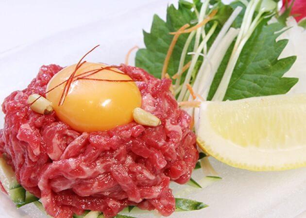 焼肉 八山 (ハッサン)の和牛ユッケ画像