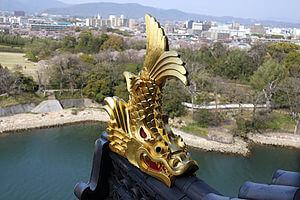 名古屋城のシンボル金のしゃちほこ