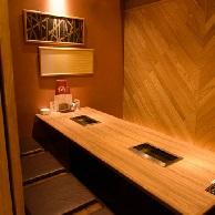 さんか亭のテーブル席